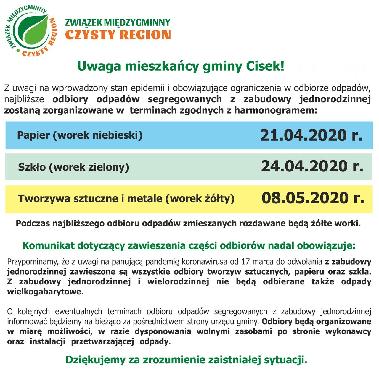 Covid19 Komunikat odbiory kwiecien maj CISEK.jpeg