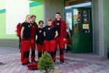 Młodzi ratownicy z II LO w K-Koźlu z wizytą w PSP Landzmierz