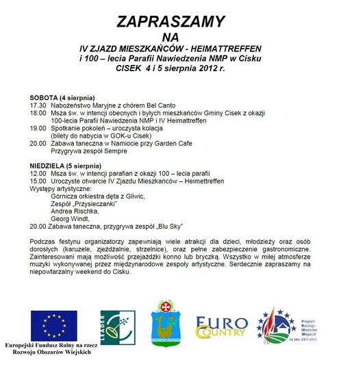 Heimattreffen Cisek 2012
