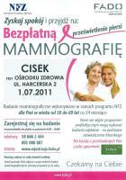 Bezpłatna mammografia w Cisku