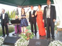 Koncert przy fontannie w Cisku
