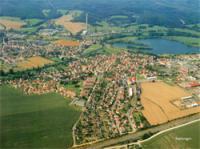 Widok z samolotu na Gminę Breitungen