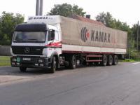TIR z 25 tonami ziarna gotowy do drogi